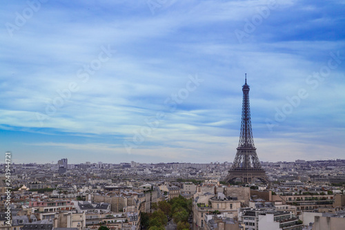 Deurstickers Centraal Europa Paris- Vue aérienne