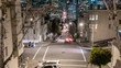 Timelapse Tracking Shot of San Francisco Downhill City Lights -Zoom In-