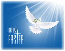 Happy Easter. Greeting Card Wi...