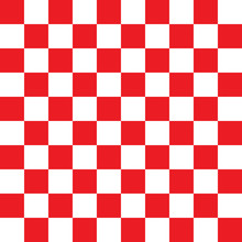 Checkered Red And White Pattern