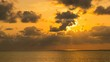 Timelapse of Heavenly Sunset at Tropical Beach in Okinawa -Pan Right-
