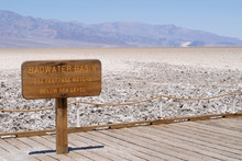 Schild Am Badwater Basin, Death Valley, Kalifornien, USA