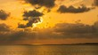 Timelapse of Heavenly Sunset at Tropical Beach in Okinawa -Pan Left-
