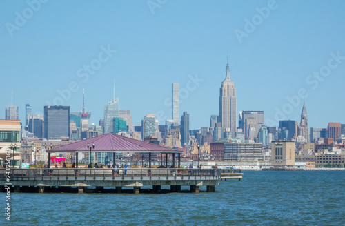 Fotografie, Tablou  Bridge Harbor and Midtown Manhattan New York view from Jersey city, NJ