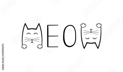 Fotografie, Obraz Cute cat graphic