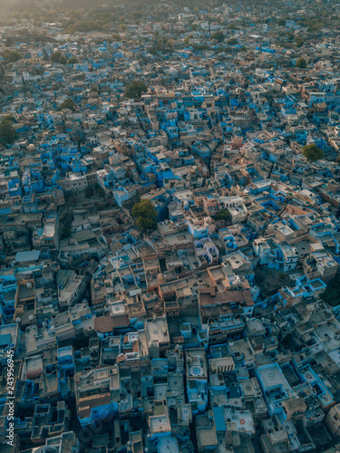 Fotobehang Grijs blue city of Jodhpur, India