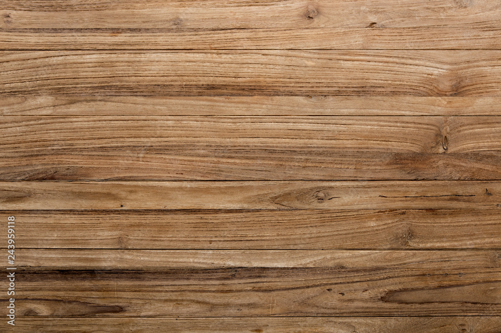 Fototapety, obrazy: Brown wooden texture flooring background