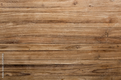 Foto auf Leinwand Holz Brown wooden texture flooring background