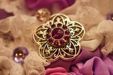 Jewelry, Brooch On Wedding Bouquet