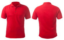 Red Collared Shirt Design Template