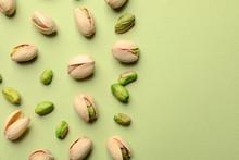 Organic Pistachio Nuts On Colo...