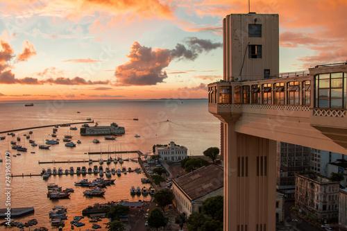 Fototapeta  Sunset in Lacerda Elevator - Salvador Bahia