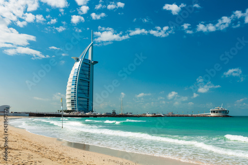 Foto op Canvas Dubai Burj Al Arab Hotel in Dubai, United Arab Emirates