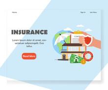 Vector Insurance Website Landing Page Design Template