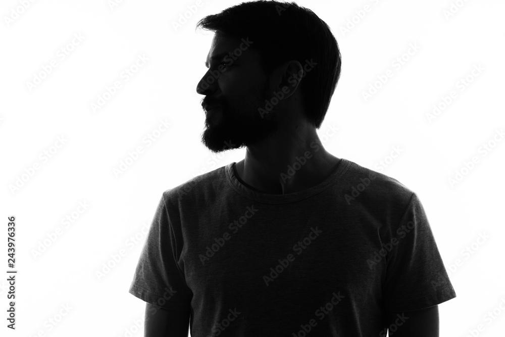 Fototapeta silhouette man