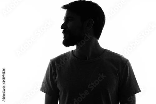 silhouette man Fototapet