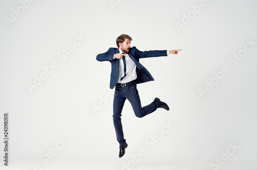 Obraz na płótnie business man dancing isolated background