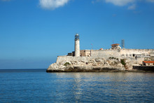 Castillo Del Morro Lighthouse In Cuba