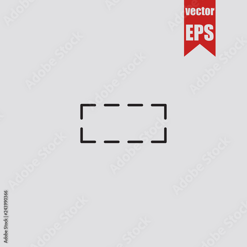 Fotografie, Obraz  Figure rectangle icon.Vector illustration.