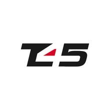Letter T 45 Vector Logo.