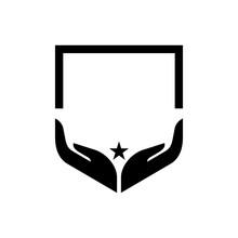 Two Hand Shield Logo