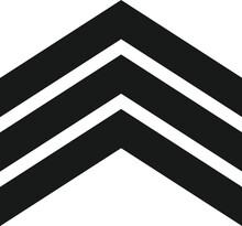 Military Rank Badge Shield Vector Logo.
