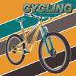 Bicycle Poster Vector Illustration - Vector