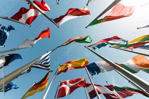Flaggen international Canvas Print