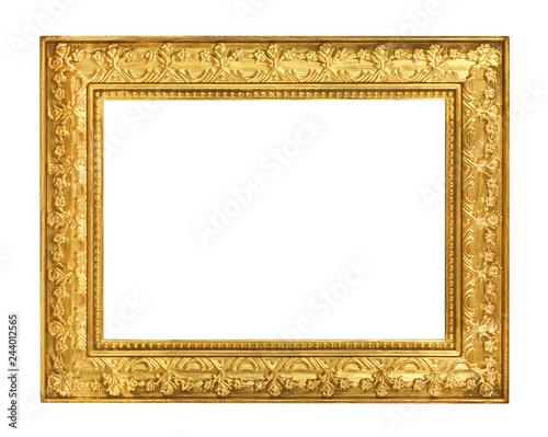 Obraz The antique gold frame on the white background - fototapety do salonu