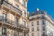 canvas print picture     Paris, beautiful building, typical parisian facade near Republique neighborhood