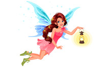 Cute Little Fairy With Beautif...