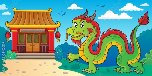 Chinese dragon theme image 2