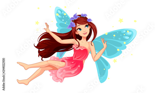 Beautiful Flying Fairy Canvas Print