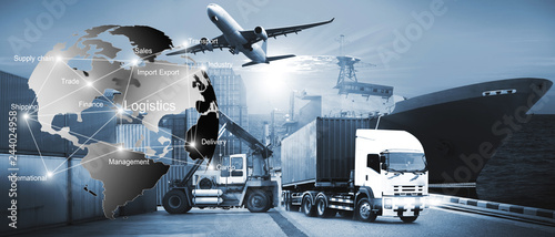 Fotografía  International Transportation, import-export and logistics ,shipping business