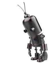 Mini Iron Robot In A White Background