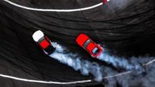 Car Drift Battle On Abstract B...