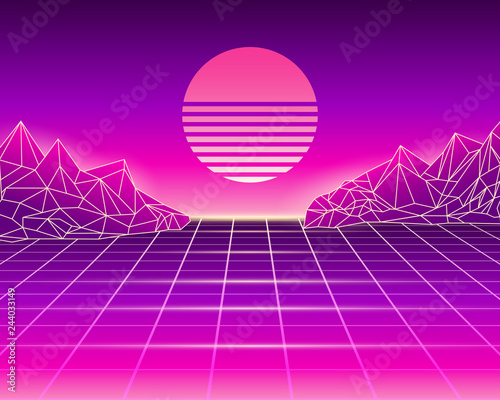 Retro background 80s-90s style  Vector illustration with