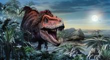 Tarbosaurus Scene 3D Illustration