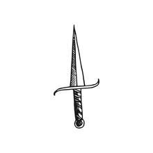 Dagger Vector Doodle Sketch Is...