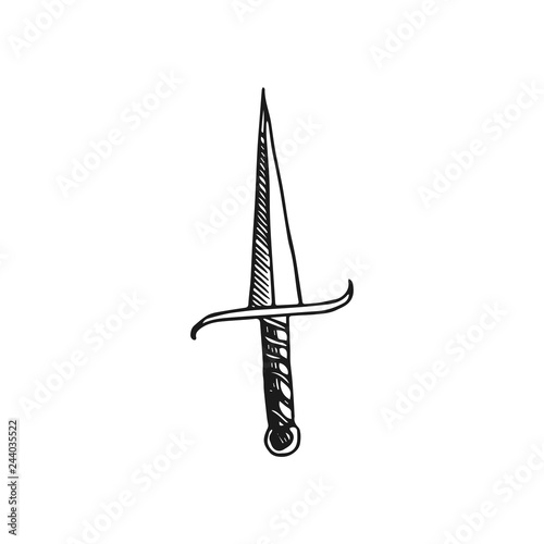Foto dagger vector doodle sketch isolated on white background