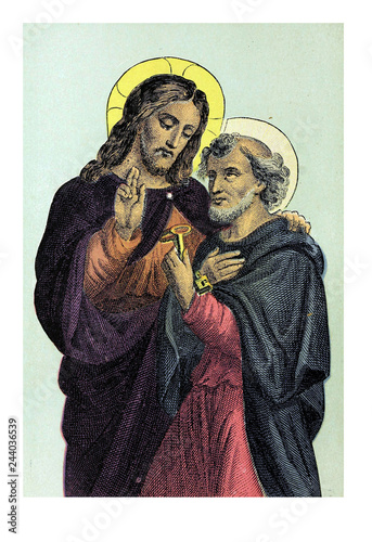Tablou Canvas Jesus and Apostle Peter