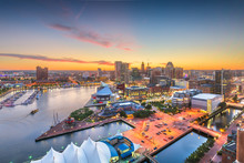 Baltimore, Maryland, USA Skyline Of The Inner Harbor