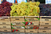 Various Grapes On Street Sale
