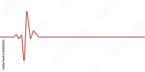 Fotografía  red heartbeat line icon