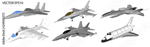 Foto Vector jet aircraft for soldiers