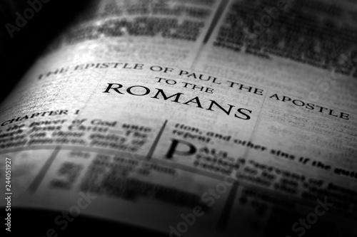 Fotografia, Obraz  Bible New Testament Christian Gospel Romans