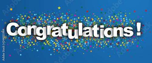 Pinturas sobre lienzo  congratulations label