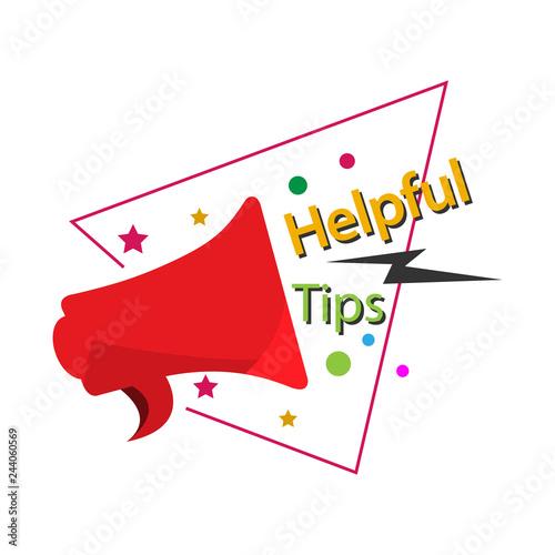 Fotografía  Helpful tips template design for web ,Creative poster, booklet, leaflet, flyer,