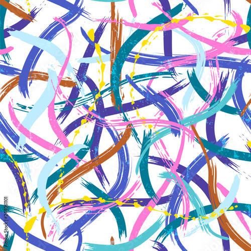 seamless paint stroke abstract background composition, vector art