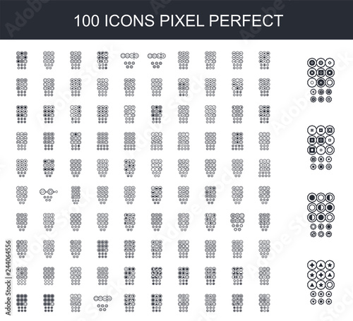Poster Artificiel 100 filled icon set. Trendy simple icons such as Choose correct answer. IQ test. Logical task, educational game for students. development of logic, iq. Task exam what comes next, , next,
